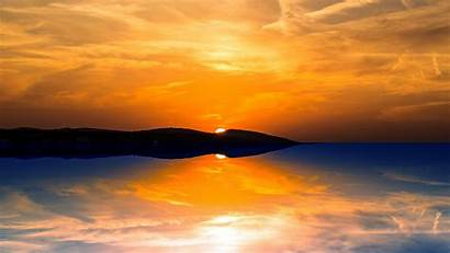 Sunset Orange Wallpapers 1080 Mountain Sun 4k