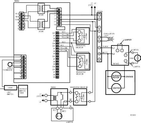 honeywell aquastat relay l8148e wiring diagram
