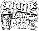 Coloring Graffiti Popular sketch template