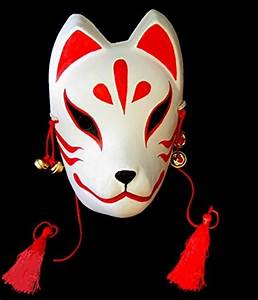 New Japanese Traditional Fox KITSUNE Mask OMEN Cosplay ...