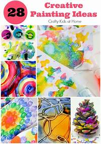 creative painting ideas 28 Creative Painting Ideas for Kids - Crafty Kids at Home