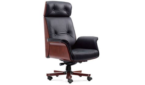imperial executive office chair in leather wood s