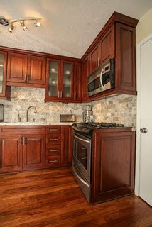kitchen countertops and backsplash end panel for stove how did you do that i the 4316
