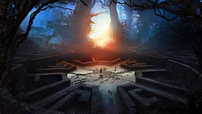 Fantasy Abstract 3d Wolf Forest Labyrinth Hood