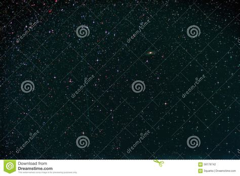 Starfield With Perseus Andromeda Galaxy Milky Way And