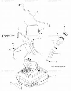 Polaris Side By Side 2014 Oem Parts Diagram For Body  Fuel