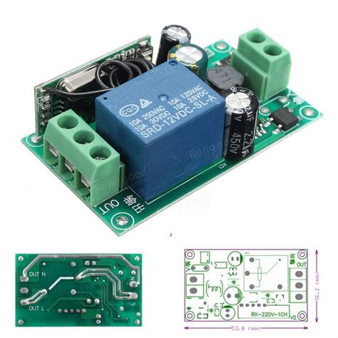 Mhz Channel Wireless Relay Remote