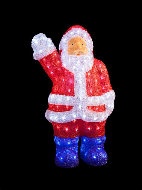 light up acrylic santa snowman reindeer outdoor