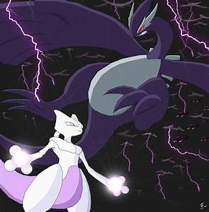 Mewtwo Vs XD001 by Esepibe on DeviantArt