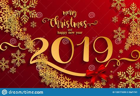 merry christmas greetings and happy new year 2019 stock vector illustration of january