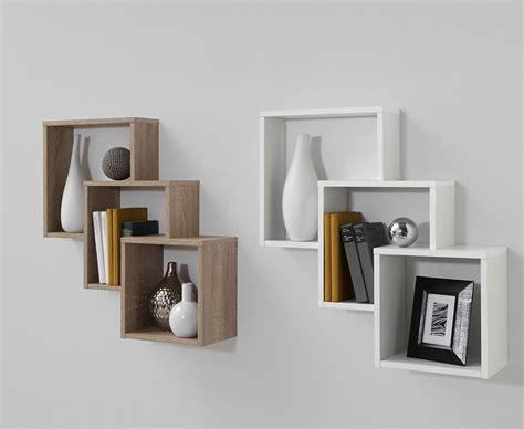 etagere suspendue  niches couleur blanc vert ou bois