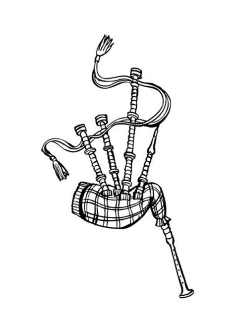 scottish bagpipes coloring page coloring sky