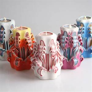 Online Buy Wholesale decorative carved candles from China