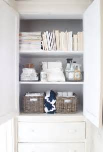 bathroom closet shelving ideas 12th and white the linen closet small space storage