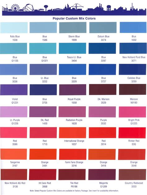 dupont imron 6000 color chart aviation color selector