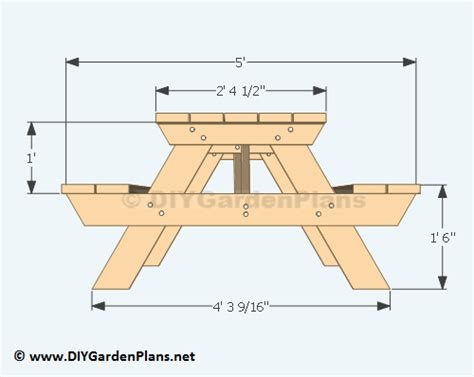picnic table bench plans traditional style picnic table plans