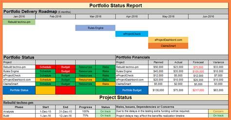 project status report marital settlements information