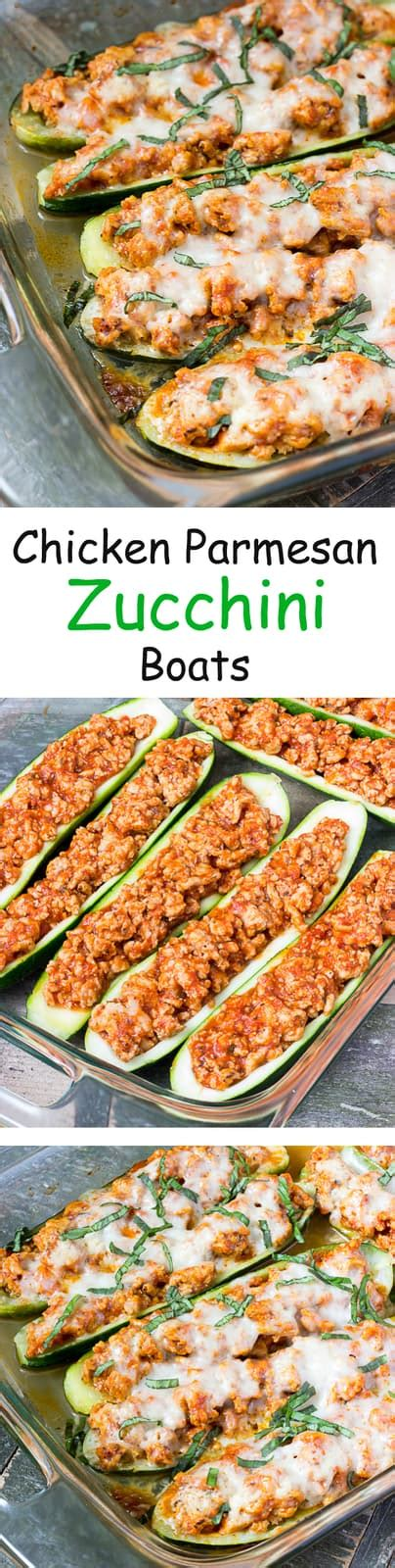 Chicken Parmesan Zucchini Boats by Chicken Parmesan Zucchini Boats The Wholesome Dish