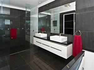 Waschbecken Spiegel Kombination : badezimmer zwei waschbecken rote t cher gro es spiegel graue fliesen interior pinterest ~ Markanthonyermac.com Haus und Dekorationen