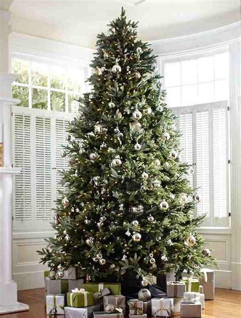 fir christmas tree ideas fraser fir and silver bells tree decorating ideas