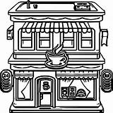 Coloring Restaurant Cartoon Printable Building Kolorowanki Dzieci Dla Restauracje Sheets Restaurants Potter Harry Olphreunion sketch template