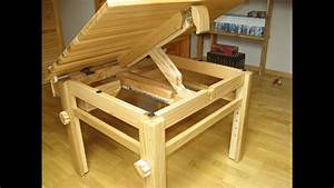 Wooden Adjustable Table For Kids  Tabletop Lifting