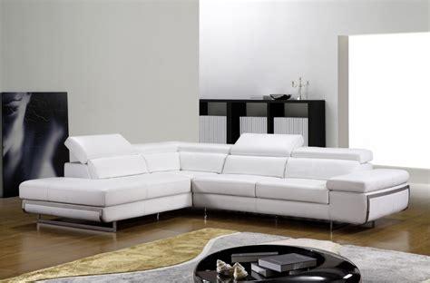 canapé en cuir blanc canapé d 39 angle en cuir italien 5 6 places guci blanc