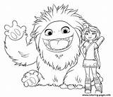Coloring Yeti Abominable Everest Coloriage Yi Printable Compagnie Getcoloringpages Colouring Popular sketch template