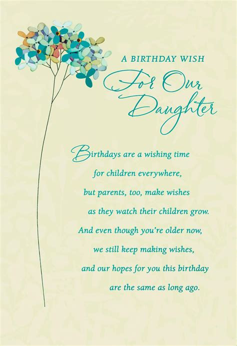 wishes   daughter birthday card greeting cards hallmark