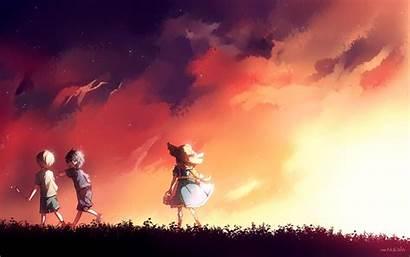 Sword Anime Background Desktop Wallpapers Pc Sunset