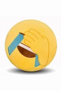 Emoji Facepalm Expression Round Soft Throw Pillow 12 6x12