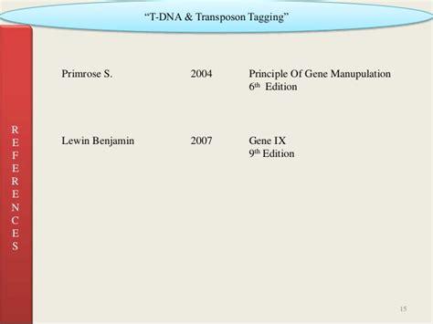T Dna & Transposone Tagging 1 (2