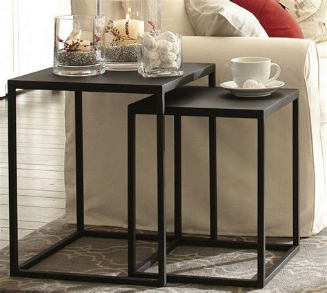 Pottery Barn Nesting Tables by Burke Nesting Side Table Pottery Barn