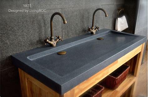 concrete trough sink 47 quot x 19 quot trendy trough gray granite