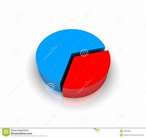 Pie Chart Graph In 3d Stock Illustration  Illustration Of