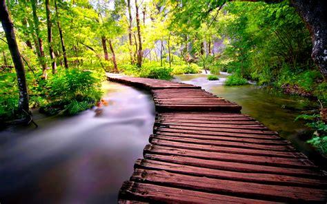 wooden bridge  desktop pc  mac wallpaper