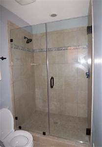 3 Panel Chart Shower Door With Fixed Notched Panel
