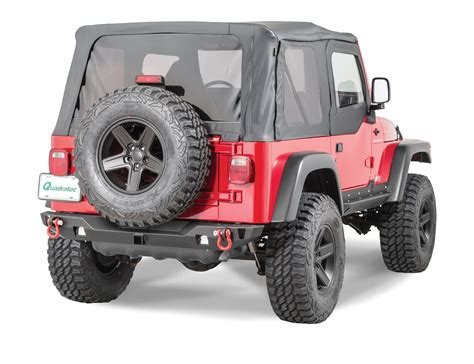 cj jeep wrangler jcr offroad swbrc2 mid width crusader rear bumper for 76
