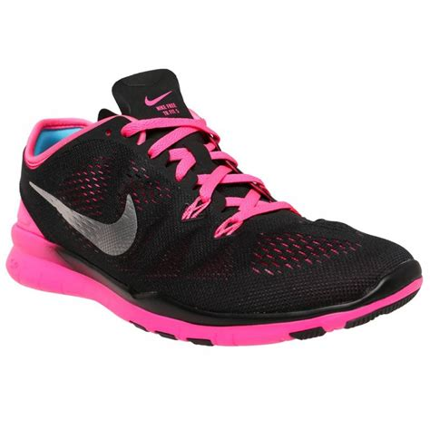 nike free tr 5 s shoes black pink