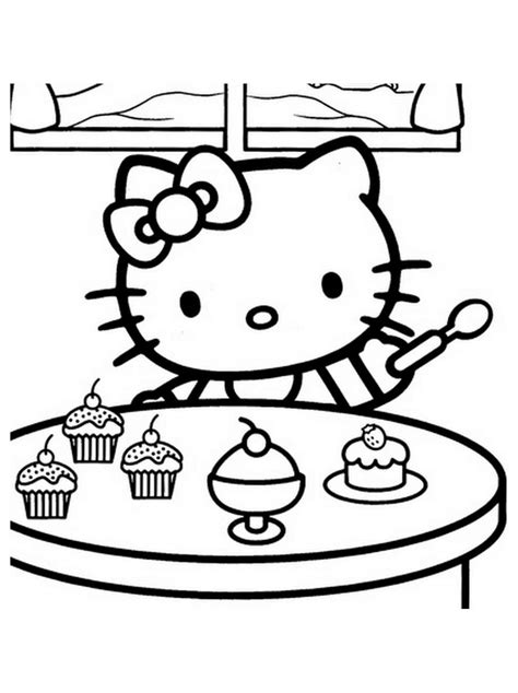 Hello kitty free to color for kids Hello Kitty Kids