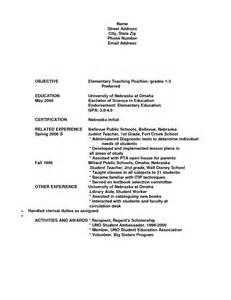 resume format teaching position sles of resume for application vntask