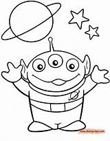 Alien Coloring Toy Story Pages Sheets Drawings Printable Disney Drawing Toys Characters Boy Drawn Colouring Head Template Line Clip Disneyclips sketch template
