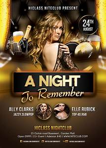 A Night To Remember Nightclub Flyer Template | Psd flyer ...