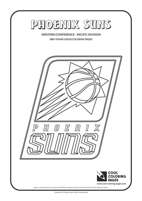 cool coloring pages phoenix suns nba basketball teams logos coloring pages cool coloring