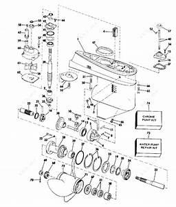Johnson 1975 75 - 75esr75b  Gearcase15 U0026quot Transom