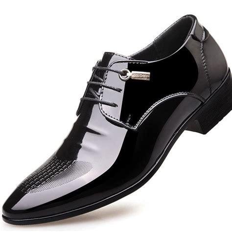 black designer formal oxford shoes  men wedding shoes