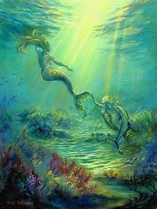 Mermaid Playdate Painting By Vicki Pritchard
