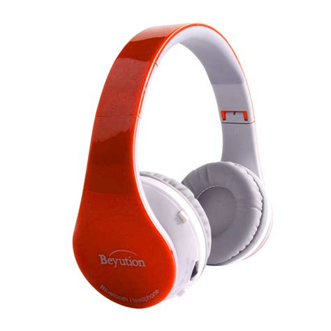 new white wireless stereo bluetooth headphone for mobile