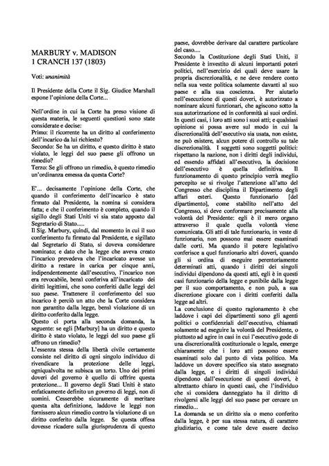 dispense di diritto costituzionale marbury vs dispensa di diritto costituzionale