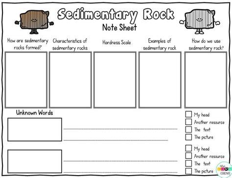 sedimentary rock worksheet wiildcreative